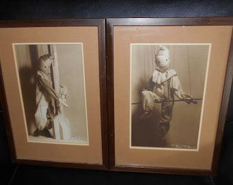 Unusual Marionette / Puppet 8 x 10 Framed Photographs, Signed