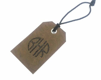 Personalized Leather Luggage Tag, Custom Leather Tag,Email / Address / Phone Number / Coordinates / Initials