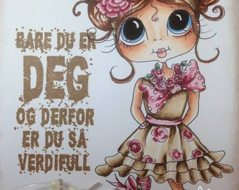 INSTANT DOWMLOAD Digital Digi Stamps Big Eye Big Head Dolls Digi  My Besties IMG835 By Sherri Baldy