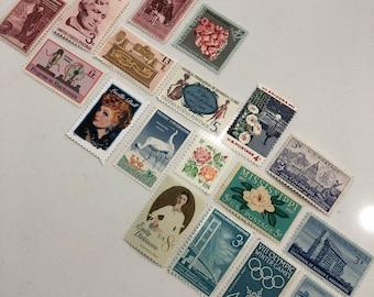 Set of 20 Vintage Stamps