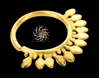 Gold Nose Ring - Gold Nose Hoop - Indian Nose Ring - Tribal Nose Ring - Nose Jewelry - Nose Piercing - Nostril Ring - Nostril Jewelry  NL7GP
