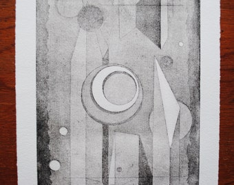 "Aquatint, Untitled 7.5X11""  Shape Series 2.1"