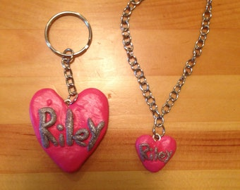 Custom charm bracelet and keychain for your dog and you!