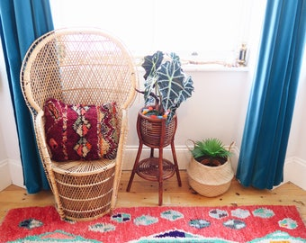 Abstract Bohemian Vintage Rug Runner Moroccan Boujaad Boujad