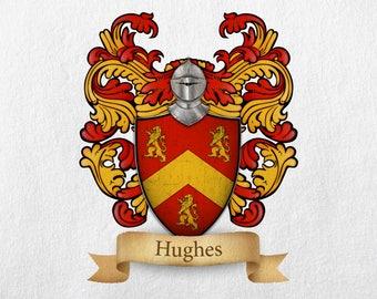 Hughes Family Crest - Print