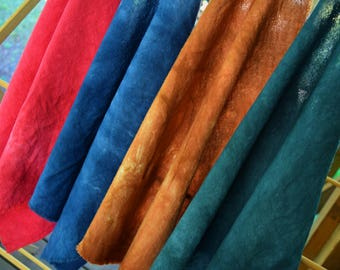 Hand Dyed Heavy Gauze SALE, 18x18, Fiber Crafts, 100% Cotton, Bandana, Scarf, Choice of 4 colors