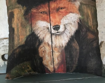 Wiley Fox accent pillow