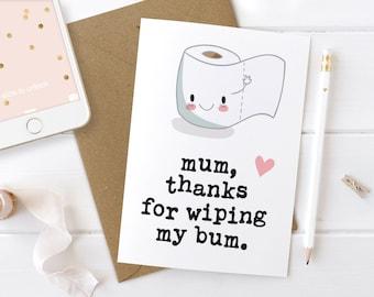 Funny Mothers Day Card, Mothers Day Card, Funny Mother's Day Card, Funny Card for Mother, First Mothers Day, 1st Mum Birthday, Mother's Day