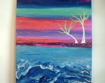 Crepuscular - Original Acrylic Painting - Stretched Canvas - 24 x 30