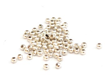 100 small metal beads 3 mm choose colors