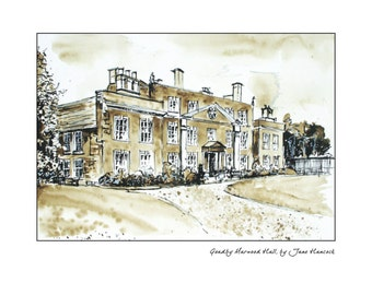 Greeting card - Goadby Marwood Hall, Melton Mowbray