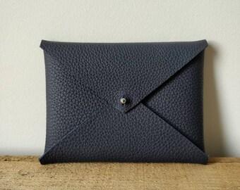 Navy Leather passport case