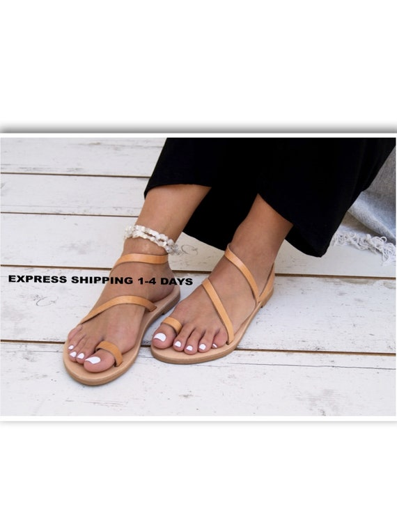 faa0250e3f8939 sandals leather sandals leather classic handmade sandals ALESSA ancient  Greek ring sandals toe natural sandals strappy ...