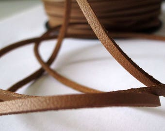5 m suede effect - camel - 2 mm leather cord
