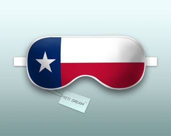 Sleep Mask Texas Flag - Lone Star State, Sleeping Mask, Comfortable Eye mask, light-blocking mask. Proud to be an American!