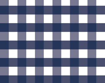 Riley Blake - 1 Inch Gingham in Navy by RBD Designers