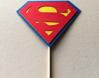 Superman Inspired Cupcake Toppers