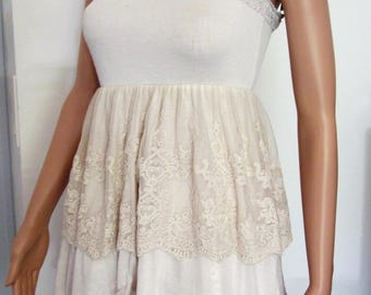 Shabby chic lace tunic