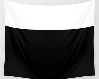 COLOR Block Large Wall Tapestry, Black White Tapestry, Contemporary, Washable, Indoor, Outdoor, Home, Privacy screen,Dorm Decor,Modern Decor