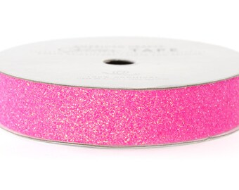 """Glitter Tape Begonia Pink - 5/8"""" x 3 yds - 100% Archival"""