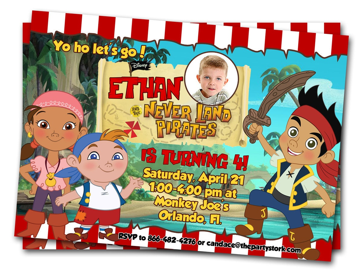 Jake and the Neverland Pirates Invitations: Printable Boys