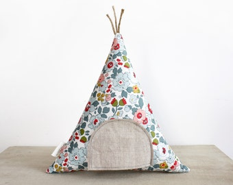 Teepee Tooth Fairy Pillow, Liberty of London, Toy, Tooth Fairy Pillow, Boho Kids, Girls, Children, Gift for Kids  Stuffed Toy, Tipi, Floral