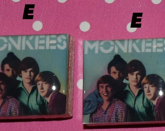 Monkees Scrabble Tile Magnets - 6 Designs