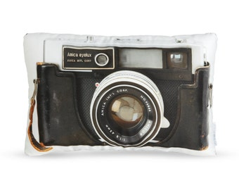 Vintage Amica Eyelux Camera Printed Pillow
