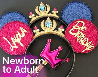 Frozen Anna Minnie Ears,Anna Crown,Anna outfit,anna dress,Tiara Minnie Ears,Princess Minnie Ears,Anna Minnie Headband,Anna Mickey Ears
