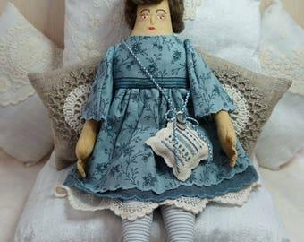 Iris, A Folk Art Rag Doll