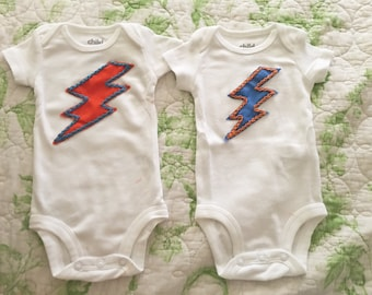 Oklahoma City Thunder Bolt Onesie