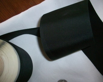 3 inch petersham ribbon in black or navy