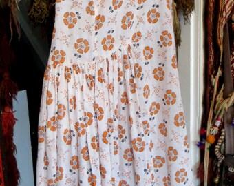 20s Cotton Lawn Floral Print Day Dress