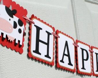 Bauernhof Geburtstagsbanner - alles Gute zum Geburtstag Banner - Bauernhof Banner - Barnyard Party - Bauernhof Partei Dekorationen auf dem Bauernhof
