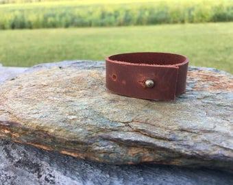 Single Wrap Leather Cuff