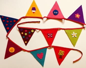 Bright and Happy Bunting / nursery decor / girls bedroom decor / girls birthday / campervan / colourful bunting / tent decor