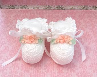 Baby Booties, Baby Boots, Crochet Baby Booties