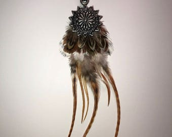 Feather Hair Clip » Hair Feathers » Boho Feathers » Roach Clip » Feather Extensions » Festival Fashion » Coachella » Burning Man
