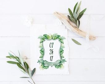Wedding Monogram   Semi - Custom Crest Wedding Logo, Family Crest, Heraldry, Monogram - Anguilla
