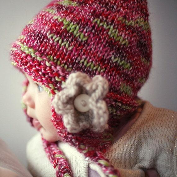 Baby Hat Knitting Pattern Earflap Hat Pattern Hat With Flower