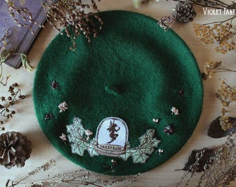 Green Beret · Fairy Cabinet · Classic Lolita and Otome Kei Beret · Autumn Collection ·