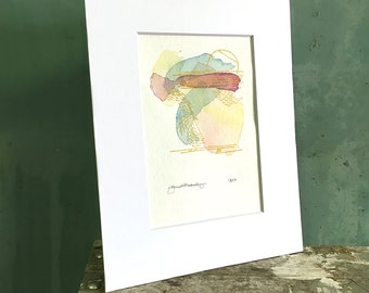 core / original watercolor / one of a kind painting