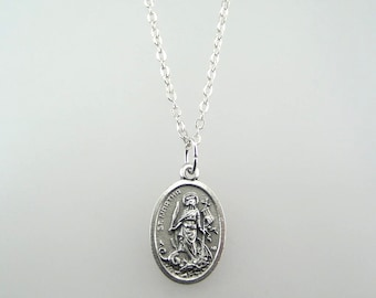 Saint Martha and Assumption of the Blessed Virgin Mary Medal Necklace