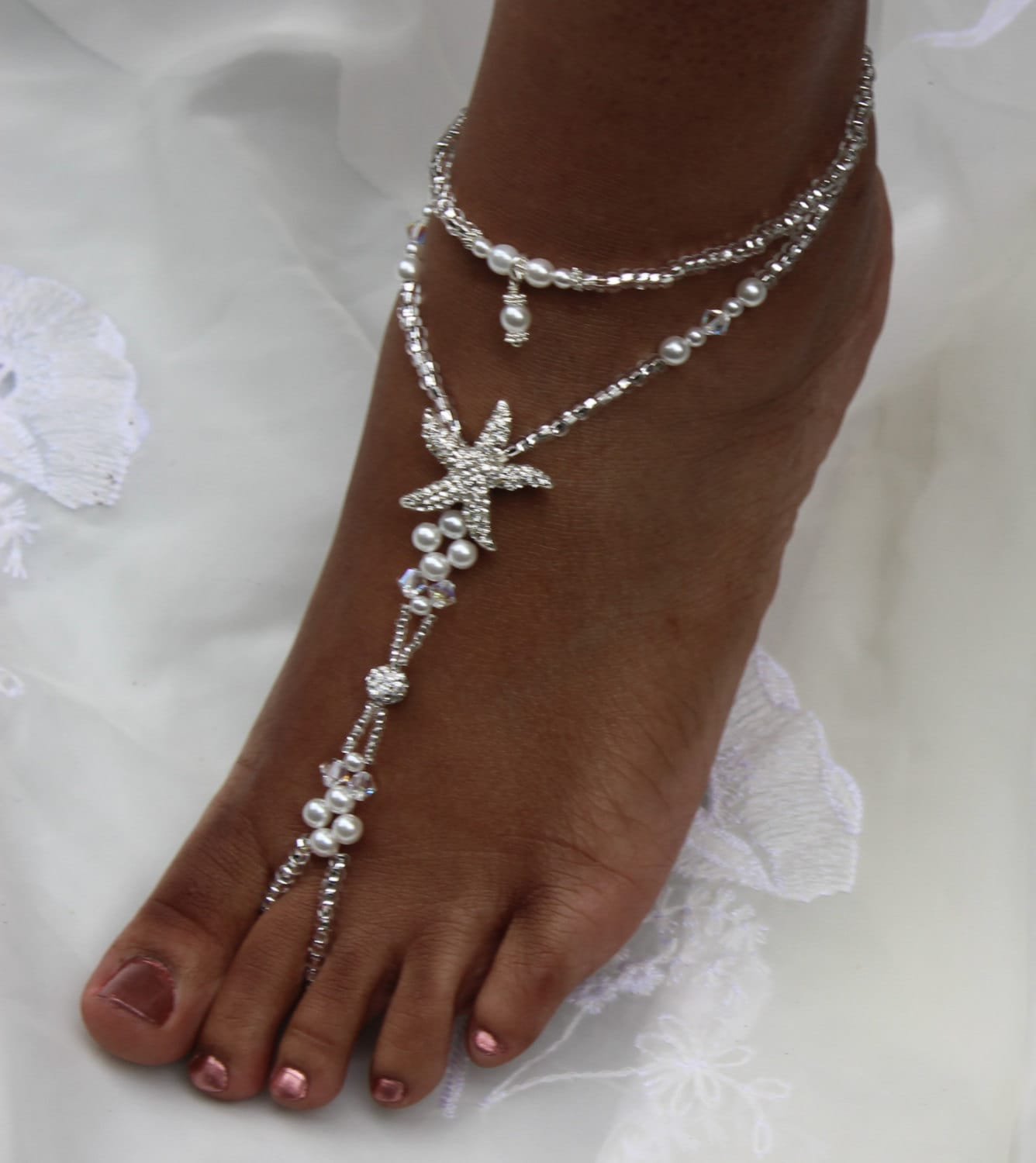 ankle com jewelry piece beach bracelet anklets foot sandals barefoot anklet starfish dp amazon wedding bienvenu
