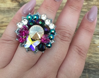 Butterfly Queen! Swarovski Crystal Statement Ring
