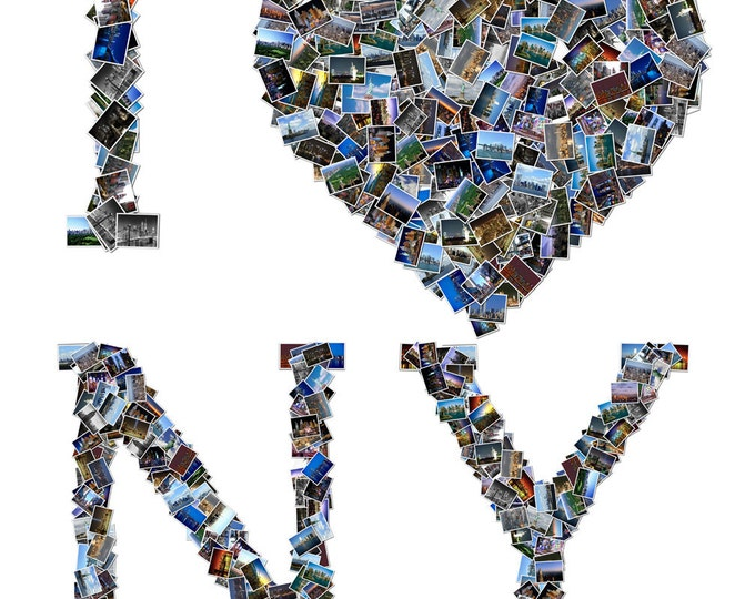 Custom Canvas New York Vacation Mosaic Collage Picture Gift Wedding or Anniversary Wall Art 16x20
