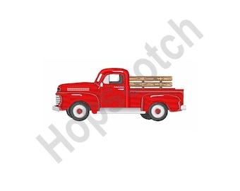 Pickup Truck - Machine Embroidery Design - 5 X 7 Hoop, Farm, Vehicle