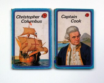 Vintage Ladybird History Books - Set of 2 - Captain Cook & Christopher Columbus- great condition - Children's Books