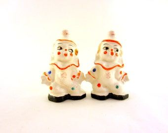 Vintage Clown Salt and Pepper Shakers