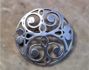 Sterling Silver Design Knutp  Brooch
